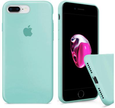 Чехол накладка xCase для iPhone 7 Plus/8 Plus Silicone Case Full мятный
