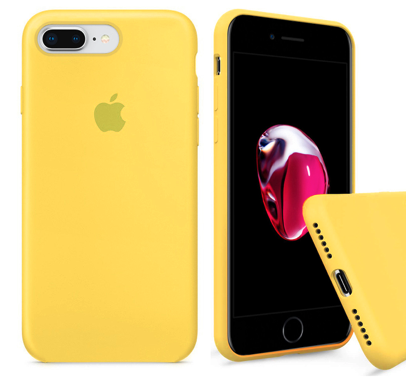 Чехол накладка xCase для iPhone 7 Plus/8 Plus Silicone Case Full canary yellow