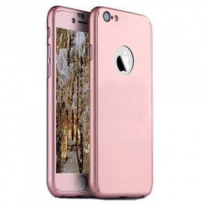 Чехол для iPhone Х/XS Full Cover 360 Logo роз.золото