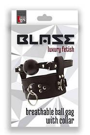 Кляп с ошейником  BLAZE BREATHABLE BALL GAG WITH COLLAR