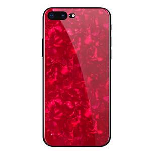 Чехол для iPhone Х Broken Glass красный