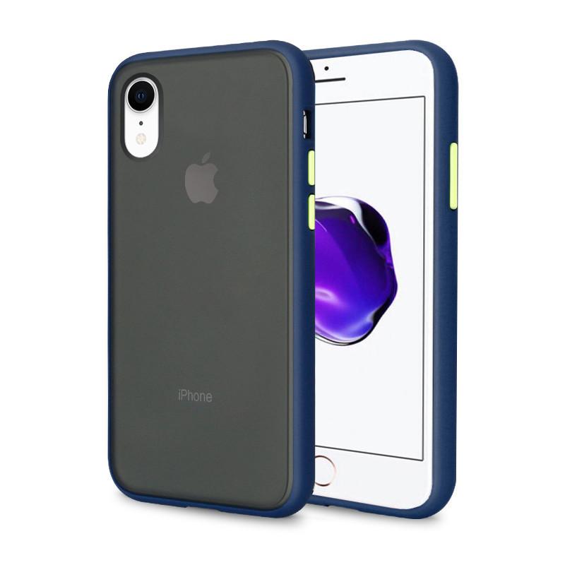 Чехол накладка xCase для iPhone XR Gingle series blue green
