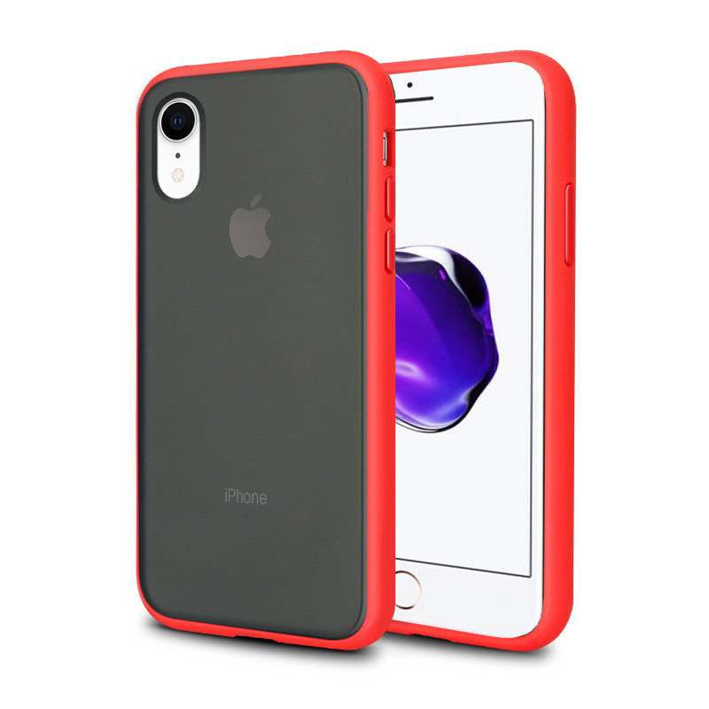 Чехол накладка xCase для iPhone XR Gingle series red black