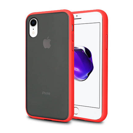 Чехол накладка xCase для iPhone XR Gingle series red black, фото 2