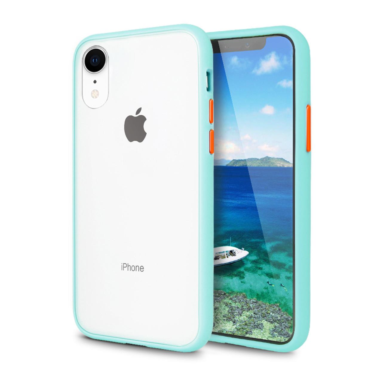 Чехол накладка xCase для iPhone XR Gingle series light blue orange