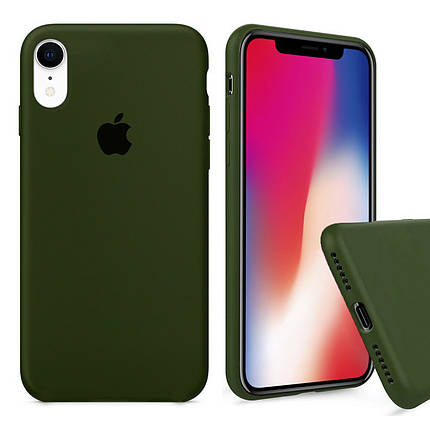 Чехол накладка xCase для iPhone XR Silicone Case Full olive, фото 2