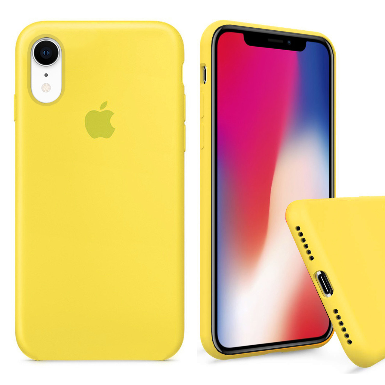 Чехол накладка xCase для iPhone XR Silicone Case Full canary yellow