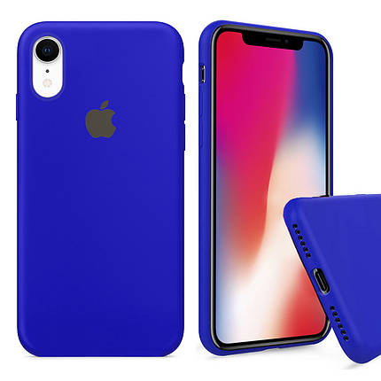 Чехол накладка xCase для iPhone XR Silicone Case Full ultramarine, фото 2