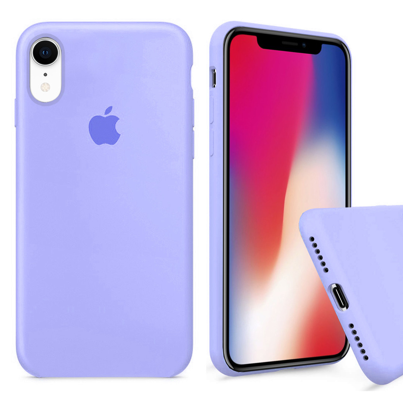 Чехол накладка xCase для iPhone XR Silicone Case Full фиалковый