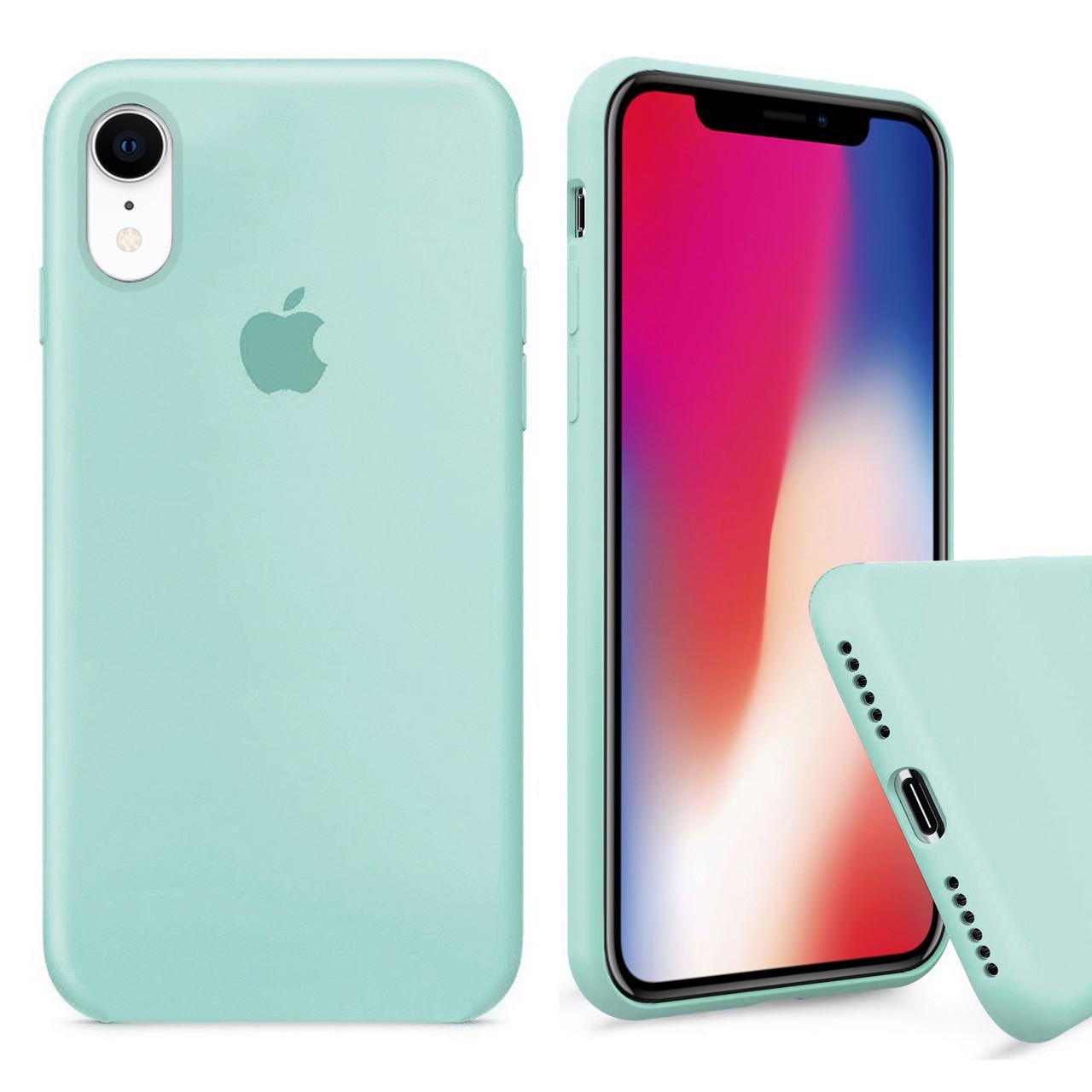 Чехол накладка xCase для iPhone XR Silicone Case Full мятный