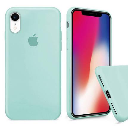 Чехол накладка xCase для iPhone XR Silicone Case Full мятный, фото 2