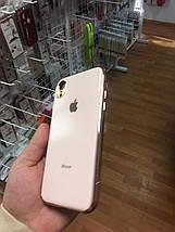 Чехол для iPhone XR Glass Silicone Case Logo rose gold, фото 2