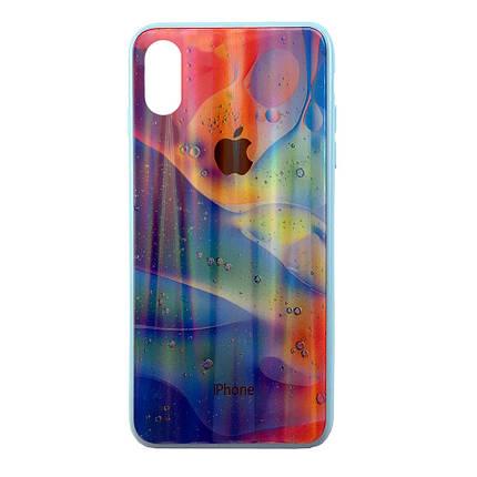 Чехол накладка xCase на iPhone XR Polaris Smoke Case Logo blue mix, фото 2