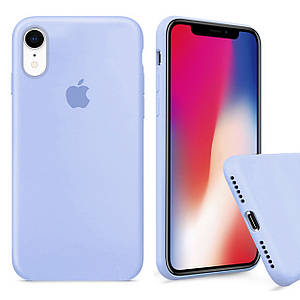 Чехол накладка xCase для iPhone XR Silicone Case Full светло голубой