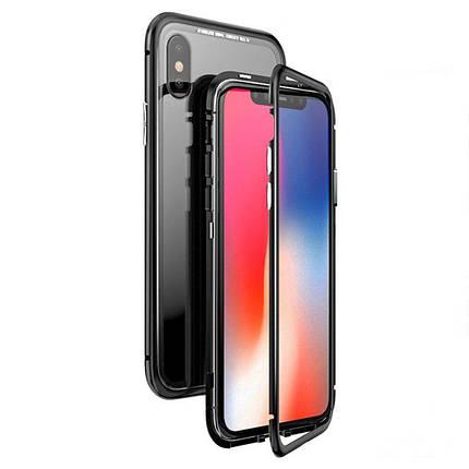Чехол  накладка xCase для iPhone XR Magnetic Case прозрачный черный, фото 2