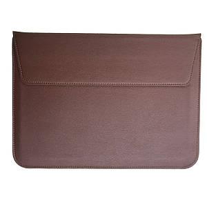 """Папка-конверт PU sleeve bag для MacBook 13"""" brown"""