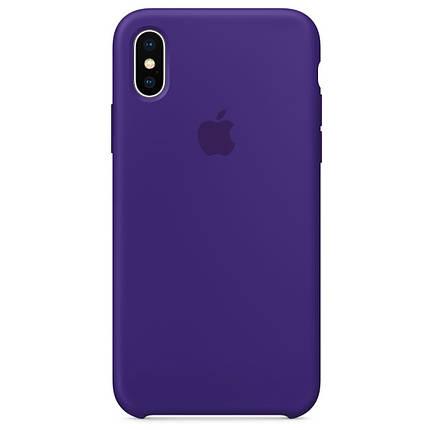 Чехол накладка xCase для iPhone XS Max Silicone Case фиолетовый, фото 2