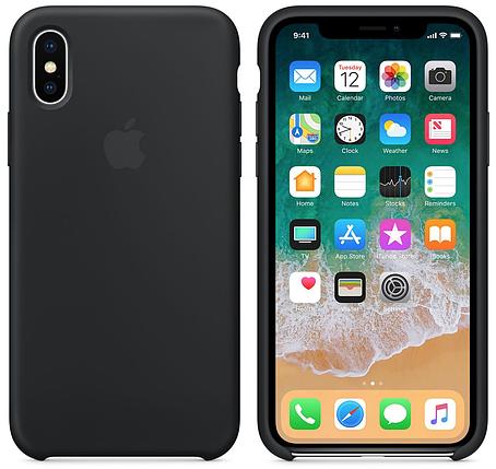 Чехол накладка xCase для iPhone XS Max Silicone Case черный, фото 2