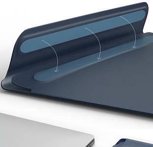 "Папка-конверт Wiwu Skin Pro2 Leather для MacBook 13,3"" blue"