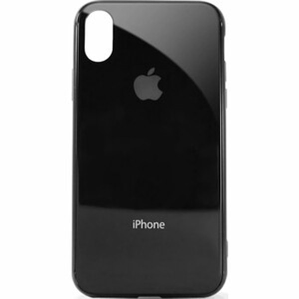 Чехол для iPhone XS Max Glass Case Logo Metallic black