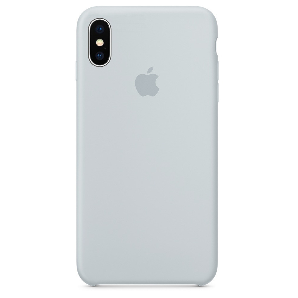 Чехол накладка xCase для iPhone XS Max Silicone Case бледно-голубой