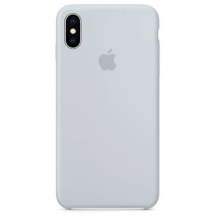Чехол накладка xCase для iPhone XS Max Silicone Case бледно-голубой, фото 2