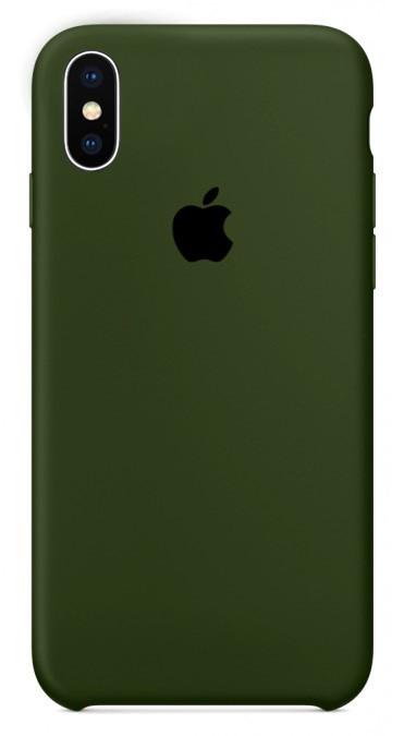 Чехол накладка xCase для iPhone XS Max Silicone Case Olive