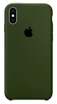Чехол накладка xCase для iPhone XS Max Silicone Case Olive, фото 2