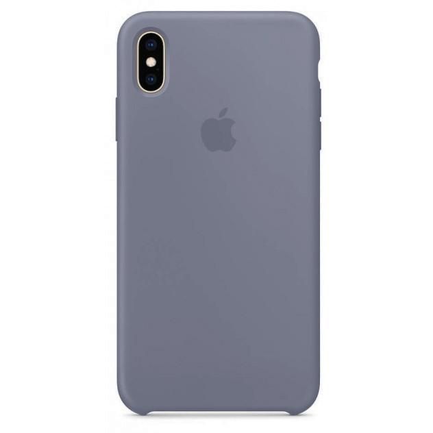 Чехол накладка xCase для iPhone XS Max Silicone Case lavender grey