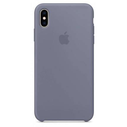 Чехол накладка xCase для iPhone XS Max Silicone Case lavender grey, фото 2