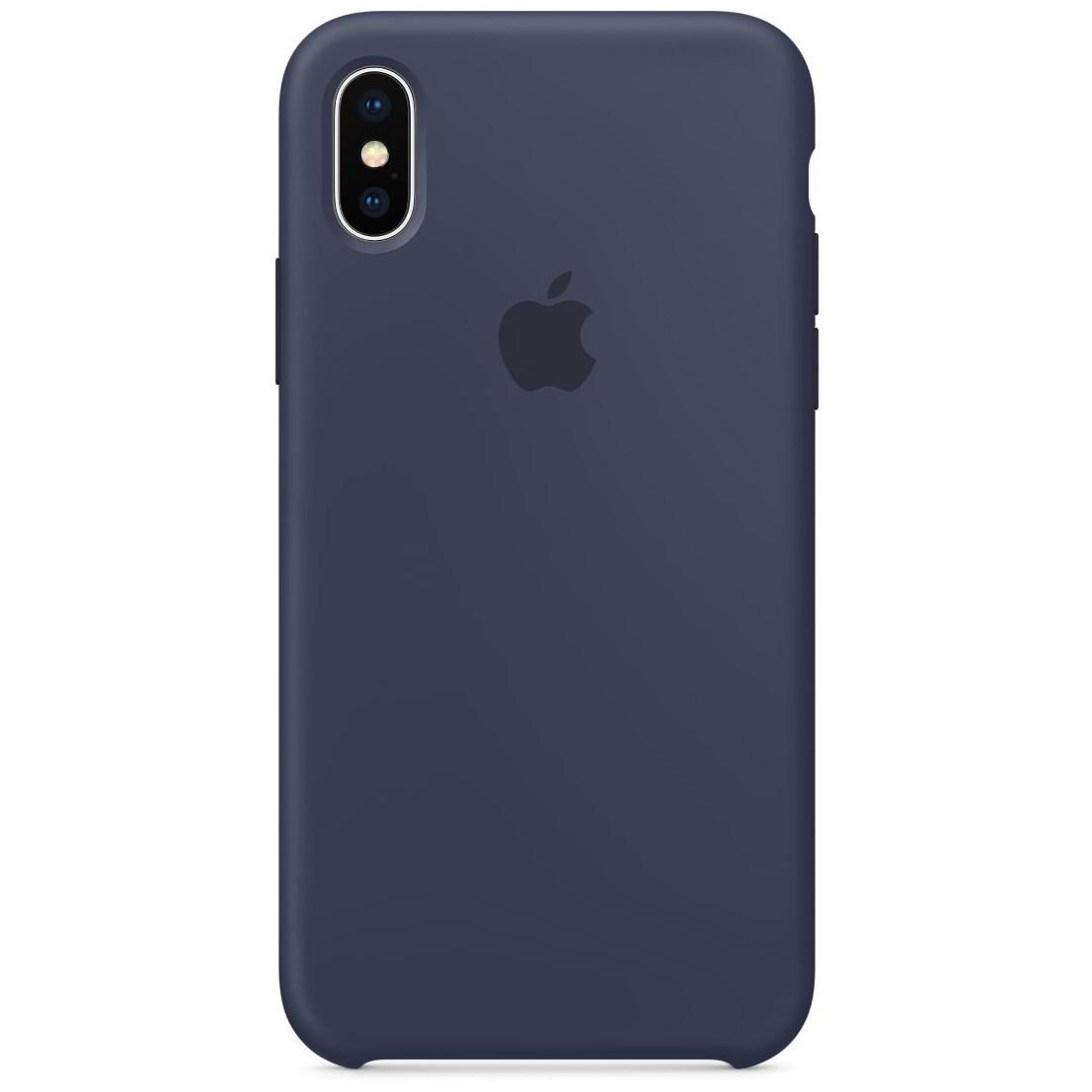 Чехол накладка xCase для iPhone XS Max Silicone Case темно-синий