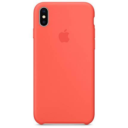 Чехол накладка xCase для iPhone XS Max Silicone Case абрикосовый, фото 2