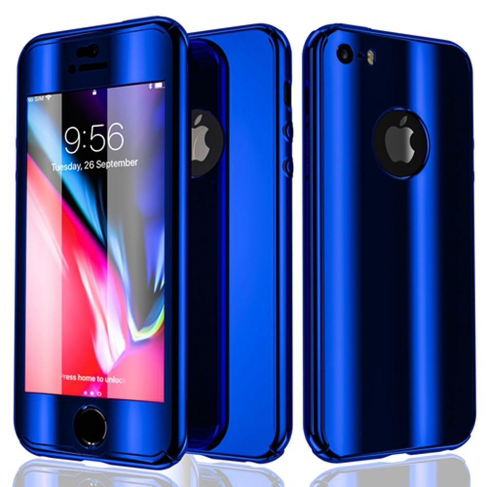 Чехол для iPhone XS Max 360° Mirror Case синий