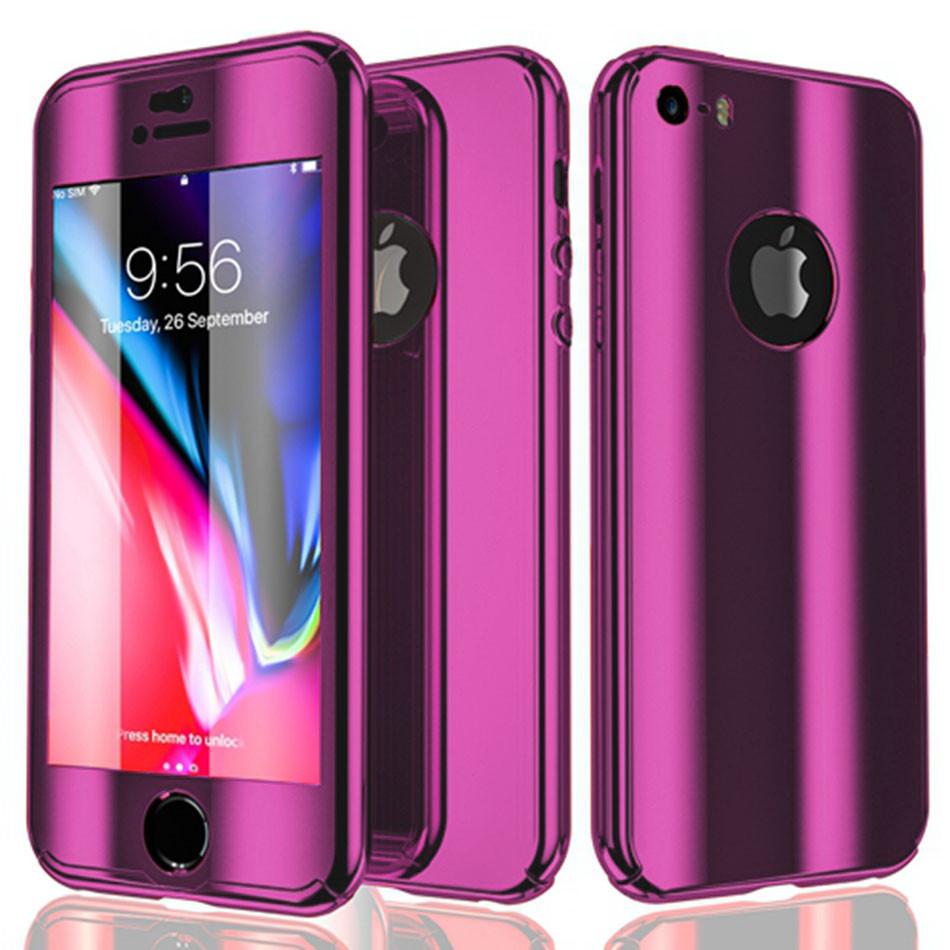 Чехол для iPhone XS Max 360° Mirror Case фиолетовый