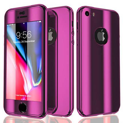 Чехол для iPhone XS Max 360° Mirror Case фиолетовый, фото 2