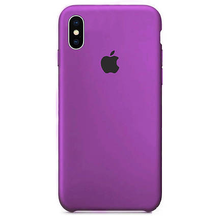 Чехол накладка xCase для iPhone XS Max Silicone Case Purple, фото 2