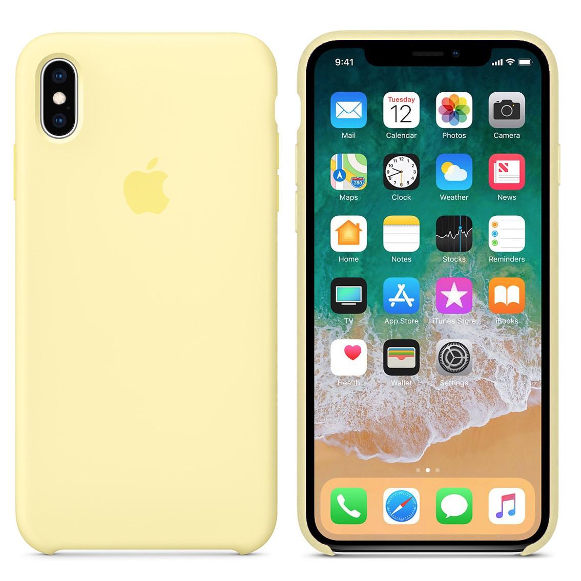 Чехол накладка xCase для iPhone XS Max Silicone Case mellow yellow