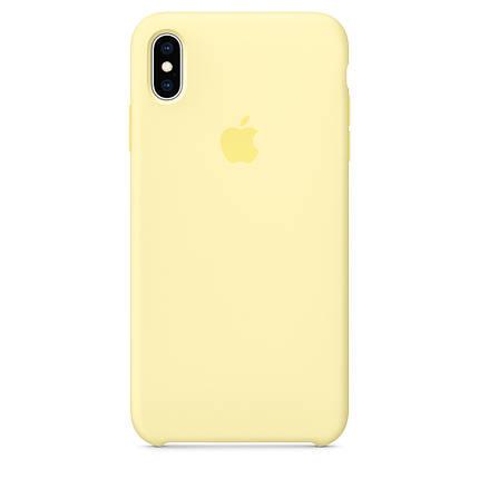 Чехол накладка xCase для iPhone XS Max Silicone Case mellow yellow, фото 2