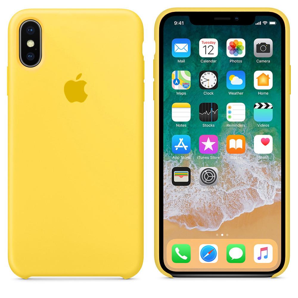 Чехол накладка xCase для iPhone XS Max Silicone Case canary yellow