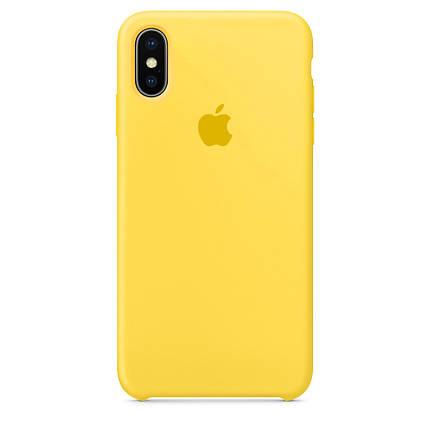 Чехол накладка xCase для iPhone XS Max Silicone Case canary yellow, фото 2