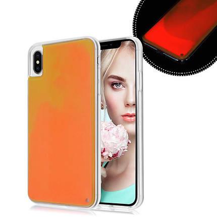 Чехол накладка xCase для iPhone XS Max Neon Case orange, фото 2