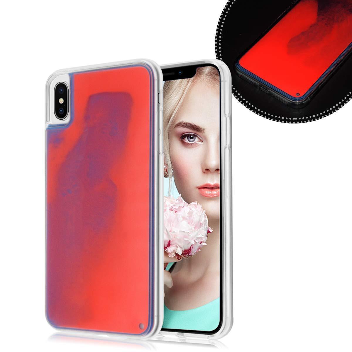 Чехол накладка xCase для iPhone XS Max Neon Case red