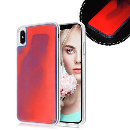 Чехол накладка xCase для iPhone XS Max Neon Case red, фото 2