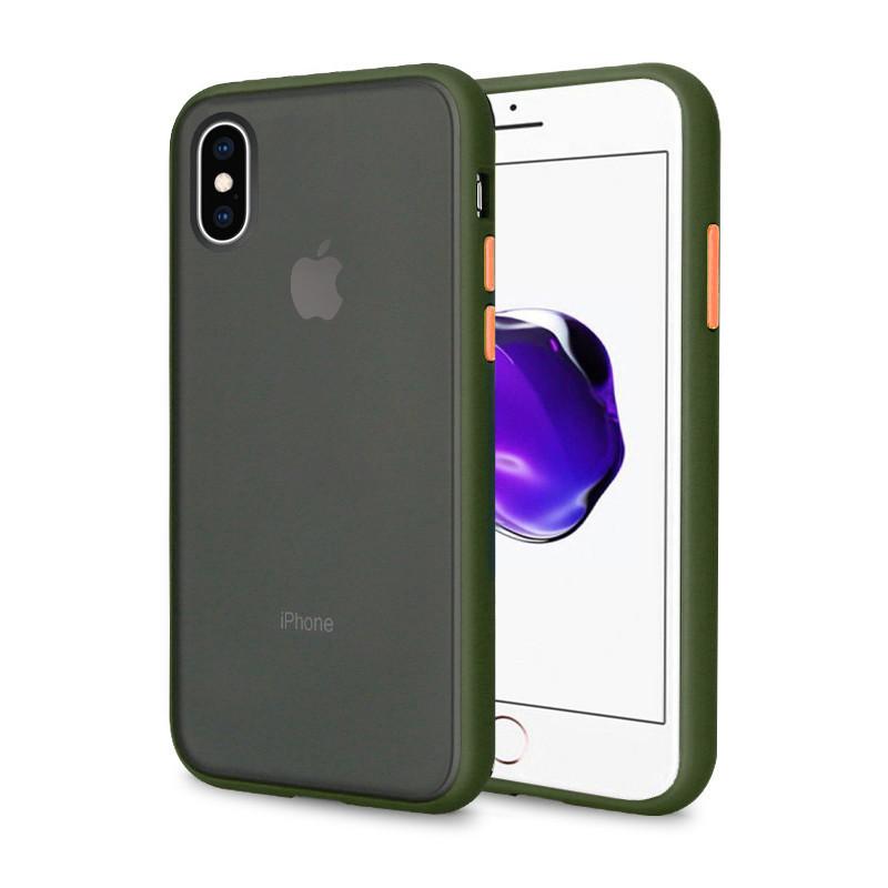 Чехол накладка xCase для iPhone XS Max Gingle series green orange
