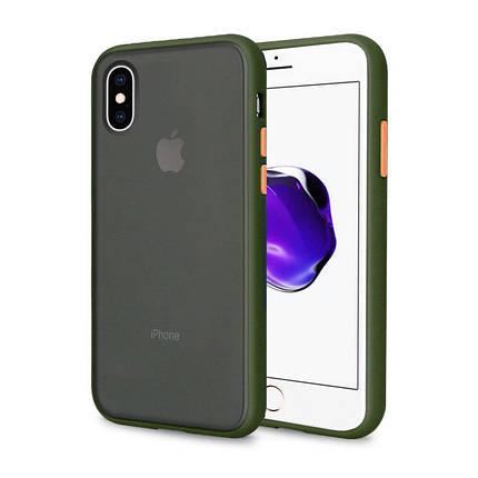 Чехол накладка xCase для iPhone XS Max Gingle series green orange, фото 2