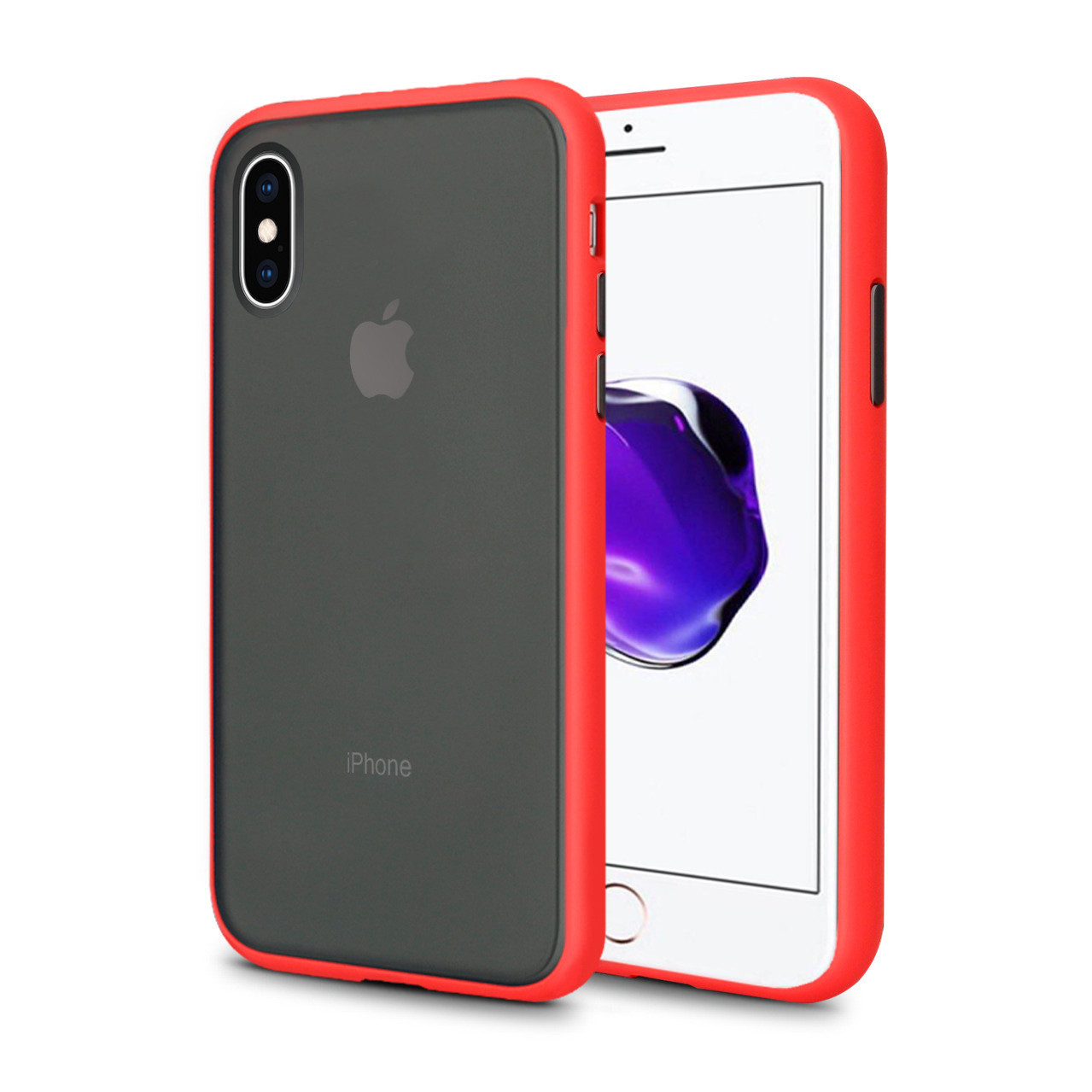 Чехол накладка xCase для iPhone XS Max Gingle series red black