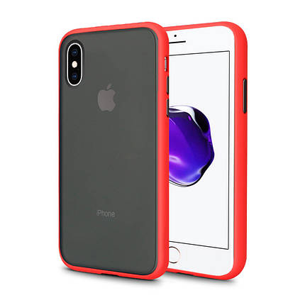 Чехол накладка xCase для iPhone XS Max Gingle series red black, фото 2