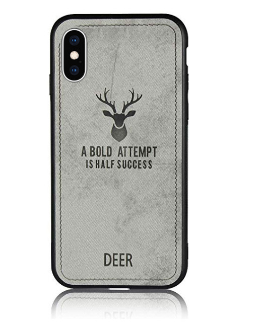 Чехол накладка xCase для iPhone XS Max Soft deer gray