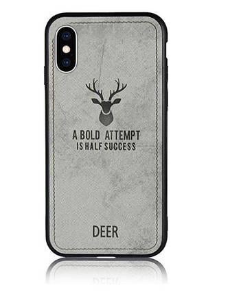 Чехол накладка xCase для iPhone XS Max Soft deer gray, фото 2