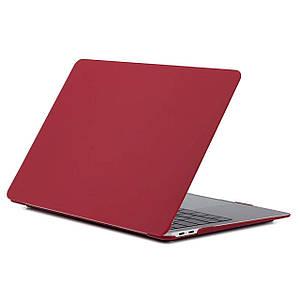 "Чехол HardShell Case for MacBook Pro 13.3"" (2016-2019) Matte Wine Red"